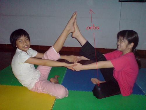 orbs at yoga class