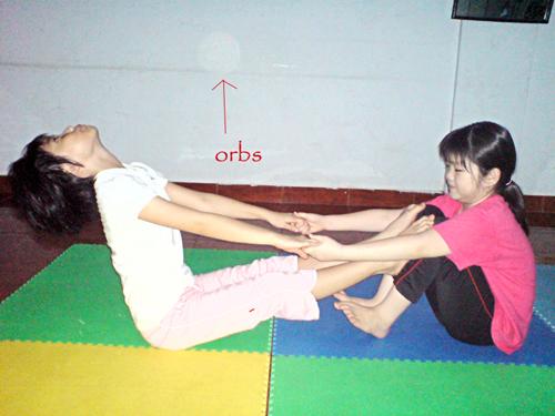 orbs at yoga class 2