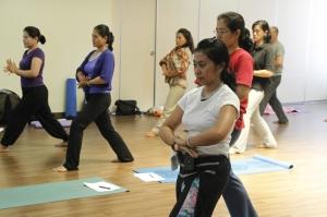 Lock the energy in to body energy storage (Manipura Chakra)