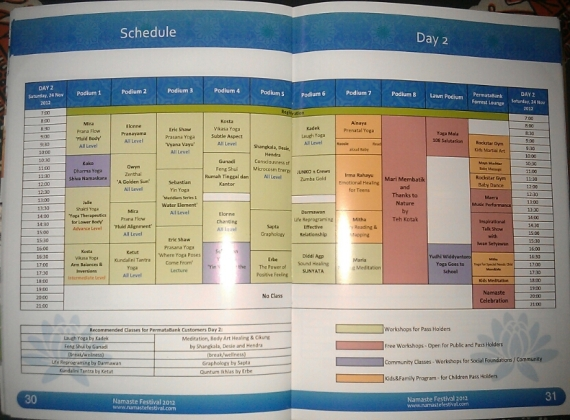 schedule yoga-2 namaste