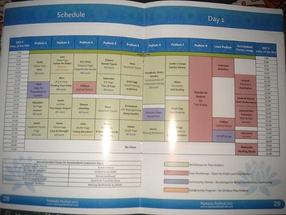 schedule yoga namaste