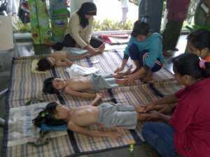 pelajaran terapi anak pada orang tua murid